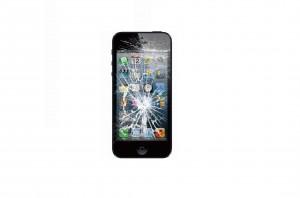 iPhone画面割れ画像