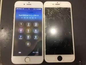 iPhone6sガラス+液晶交換修理