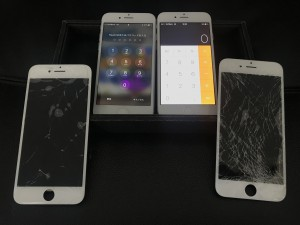 iPhone画面修理 2台同時