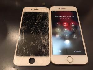 アイフォン6 画面ひび割れ修理