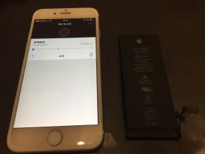 アイホーン6のバッテリー交換の画像