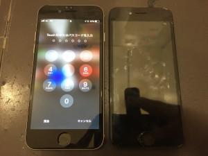 アイホン6の画面交換の画像