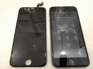 画面上部が破損したiPhone6s