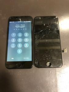 iPhone7と破損した画面