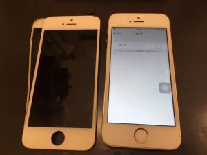 ベゼルが剥がれたiPhone5s