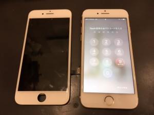 iPhone7と交換した液晶パネル