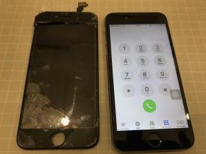 パネルが剥がれたiPhone6s
