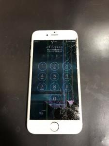 液晶不良のアイフォン6