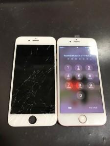 iPhone6sと割れた画面