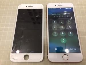 液晶不良のiPhone6s