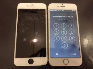 ガラスが傷だらけのiPhone6s