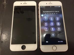画面上部がひび割れたiPhone6