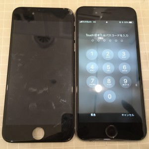 アイフォン6と液晶不良で交換したパネル