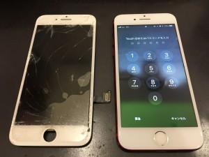 iPhone7と交換後のパネル