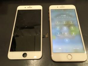 iPhone7と修理交換したパネル