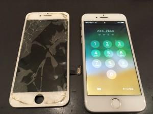 iphone7 全面の割れ