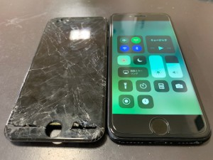 iPhone画面修理写真