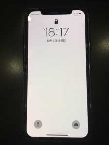 アイフォン10 画面交換修理後