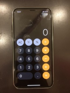 iPhoneX 画面修理後