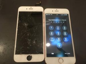 Iphone6s ガラス打痕