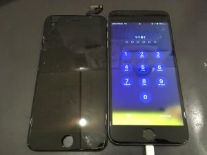 iphone6SP ガラスひび