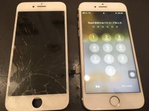 iPhone7画面修理の写真