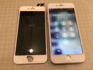 アイフォン6 ガラス重度