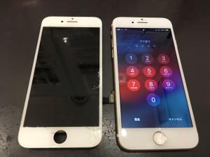 iPhone8 パネル破損