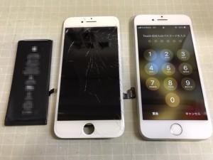 iphone7 画面+電池