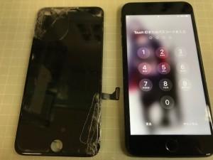 アイフォン7P 画面破損