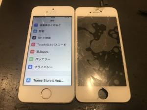 iPhoneSE ガラス修理