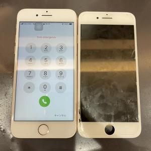 iPhone8 画面交換修理 完了しました!!!