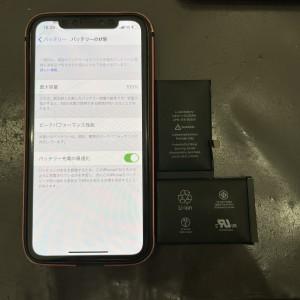 iPhoneX バッテリー交換 京都駅前最安値 データそのまま