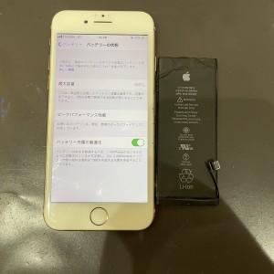 iPhone8 バッテリー交換 最短30分 データそのまま