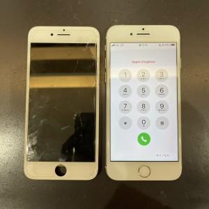 iPhone8 画面割れ 京都駅前最安値