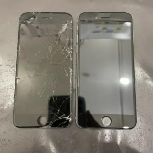 iPhone6 画面割れ修理 京都駅前 iPhone修理即日